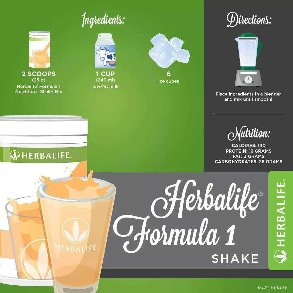 How many calories does a herbalife shake have